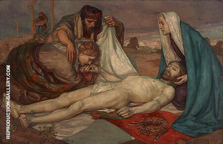 The Descent from the Cross c1898 By Rupert Bunny - Oil Paintings & Art Reproductions - Reproduction Gallery