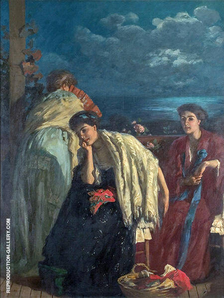 The Sonata 1909 By Rupert Bunny