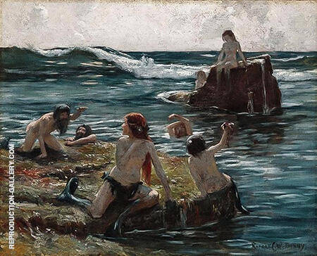 Tritons at Play c1890 By Rupert Bunny