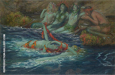 Mermaids Dancing 1896 Painting By Rupert Bunny - Reproduction Gallery