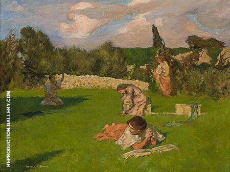 Summer Afternoon c1890-91 Painting By Rupert Bunny - Reproduction Gallery