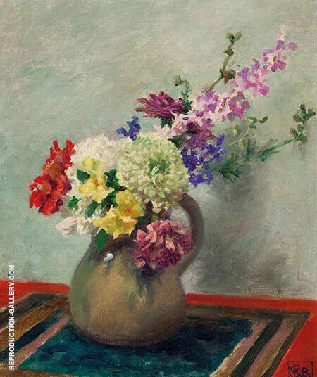 Still Life Mixed Flowers c1927-32 By Rupert Bunny