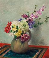 Still Life Mixed Flowers c1927-32 By Rupert Bunny