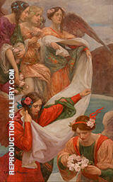 Angels Descending 1897 By Rupert Bunny - Oil Paintings & Art Reproductions - Reproduction Gallery
