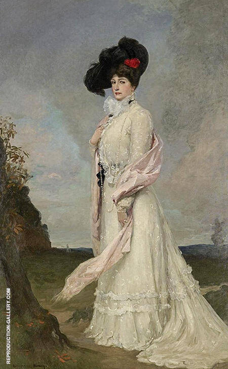Madame Melba c1902 By Rupert Bunny - Oil Paintings & Art Reproductions - Reproduction Gallery