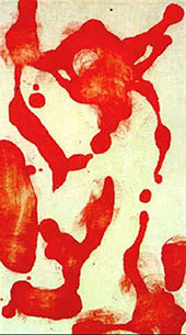 Red Painting Number 5 By Jackson Pollock (Inspired By)