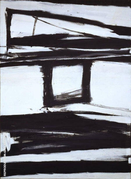 Palladio 1961 By Franz Kline Replica Paintings on Canvas - Reproduction Gallery