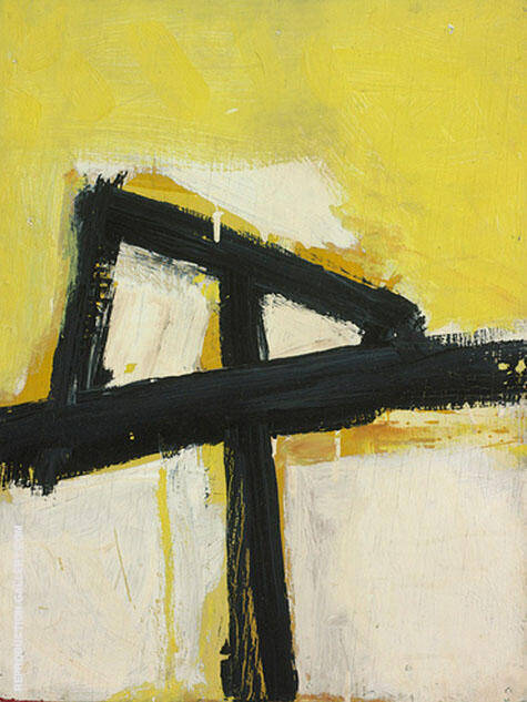 Untitled 1951 2 By Franz Kline Replica Paintings on Canvas - Reproduction Gallery