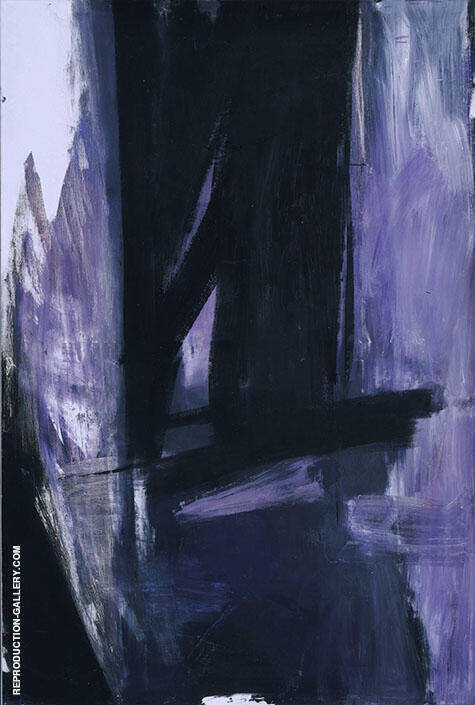 Mauve Torches 1960 By Franz Kline - Oil Paintings & Art Reproductions - Reproduction Gallery