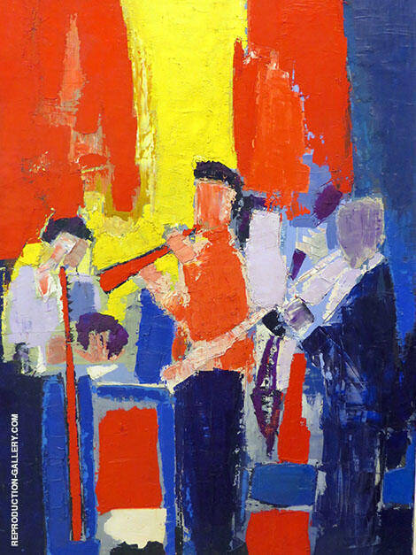 Musicians Painting By Nicolas De Stael - Reproduction Gallery