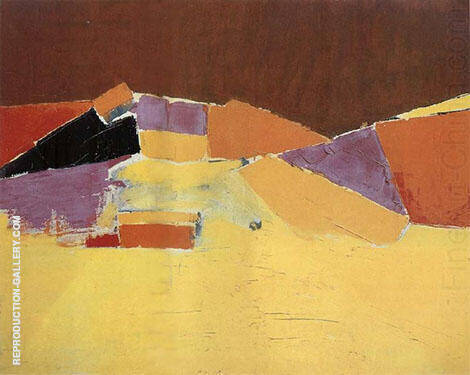 Abstract Figure By Nicolas De Stael