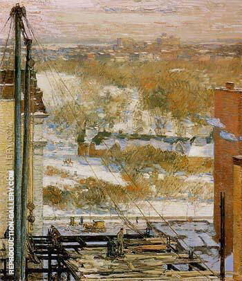 The Hovel and the Skyscraper 1904 By Childe Hassam