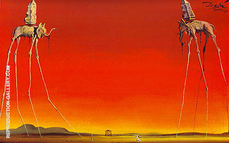 The Elephants 1948 By Salvador Dali
