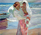 After Bathing By Joaquin Sorolla
