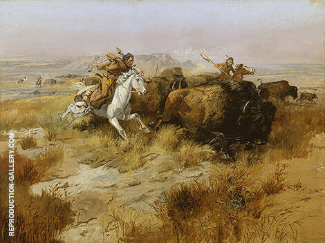 Indian Buffalo Hunt 1897 By Charles M Russell