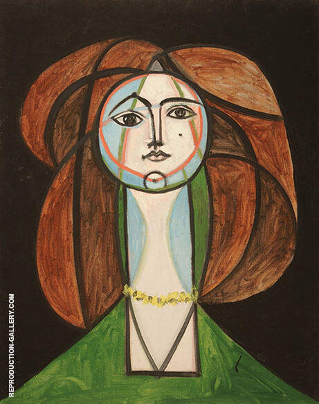 Woman with Yellow Necklace 1968 Painting By Pablo Picasso
