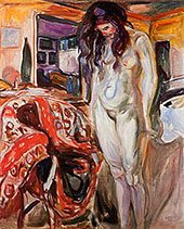 Nude by the Wicker Chair 1929 By Edvard Munch
