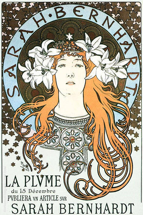 Sarah Bernhardt Painting By Alphonse Mucha - Reproduction Gallery