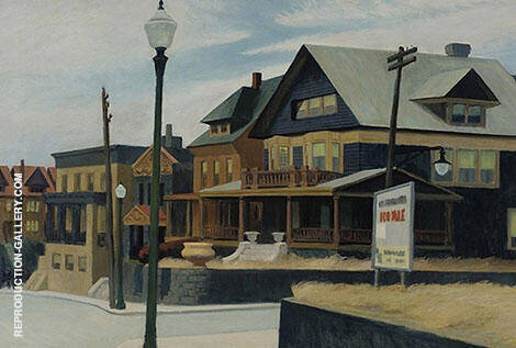 East Wind Over Weehawken 1952 By Edward Hopper Replica Paintings on Canvas - Reproduction Gallery