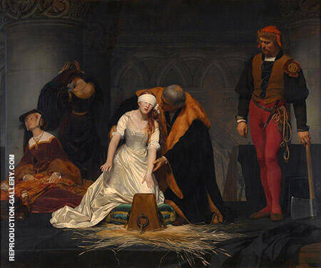 The Execution of Lady Jane By Paul Delaroche