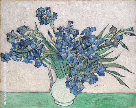 Irises 1890 By Vincent van Gogh