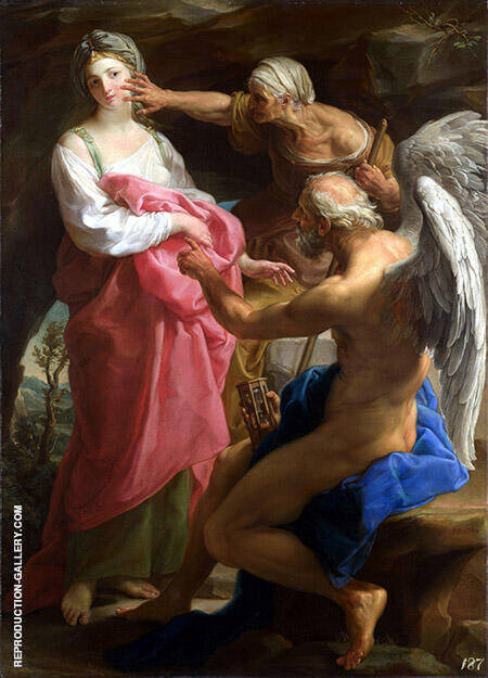 Time Orders Old Age to Destroy Beauty By Paul Delaroche