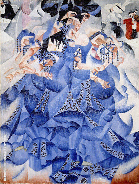 Blue Dancer Ballerina Blu 1912 Painting By Gino Severini