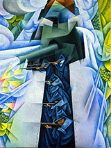 Armored Train in Action By Gino Severini