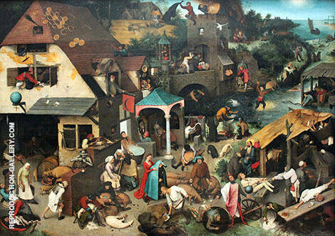 Netherlandish Proverbs By Pieter The Elder Bruegel