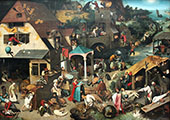 Netherlandish Proverbs By Pieter The Elder Bruegel