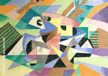 The Cyclist Painting By Gino Severini - Reproduction Gallery