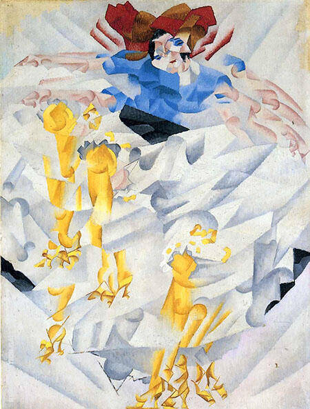 Dynamism of a Dancer 1912 Painting By Gino Severini - Reproduction Gallery