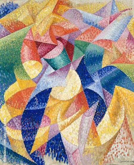 Sea Dancer (Mare Ballerina) 1914 Painting By Gino Severini