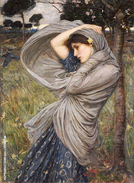 Boreas 1903 By John William Waterhouse - Oil Paintings & Art Reproductions - Reproduction Gallery