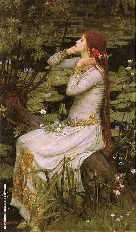 Ophelia 1894 By John William Waterhouse