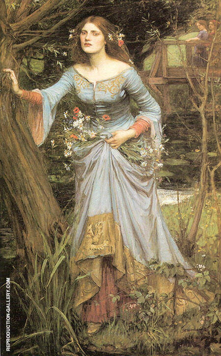 Ophelia 1910 Painting By John William Waterhouse - Reproduction Gallery