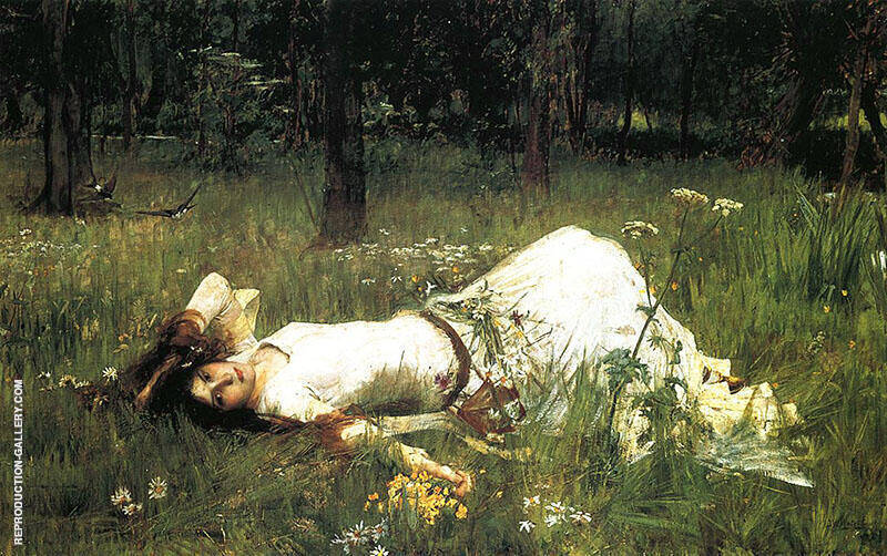 Ophelia 1899 By John William Waterhouse