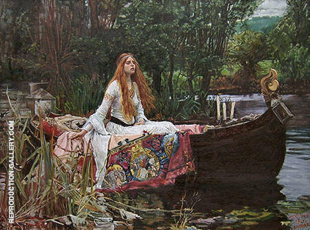The Lady of Shallot 1888 By John William Waterhouse