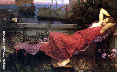 Ariadne 1898 Painting By John William Waterhouse - Reproduction Gallery