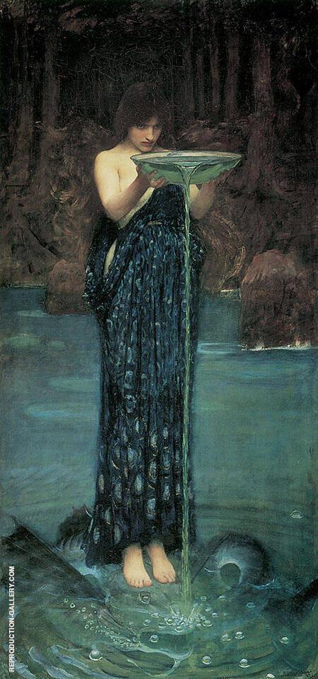 Circe Invidiosa Painting By John William Waterhouse - Reproduction Gallery