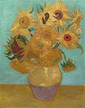 Vase with Twelve Sunflowers c1889 By Vincent van Gogh
