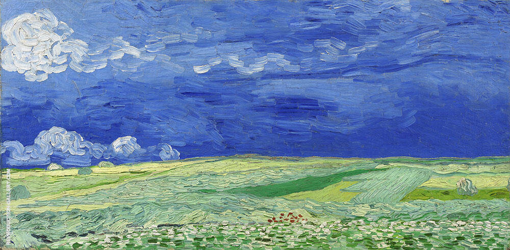 Wheat Field under A Clouded Sky Painting By Vincent van Gogh