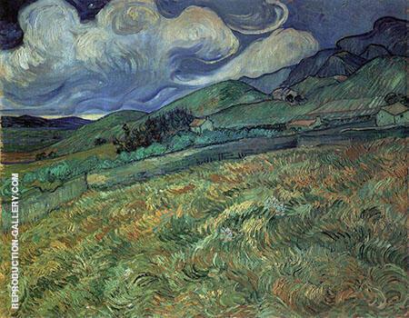 Wheat Field Behind Saint Paul Hospital 1889 By Vincent van Gogh