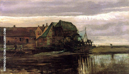 Watermill at Gennep By Vincent van Gogh