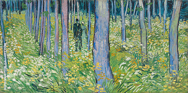 Undergrowth with Two Figures By Vincent van Gogh