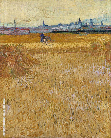 Les Moissonneurs 1888 By Vincent van Gogh
