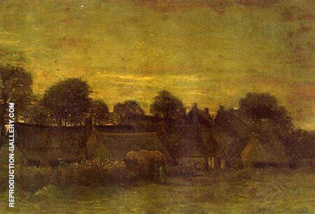 Village at Sunset By Vincent van Gogh