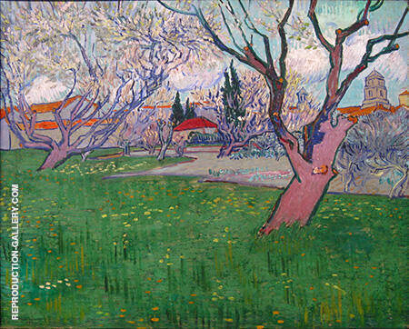 View of Arles with Trees in Blossom By Vincent van Gogh