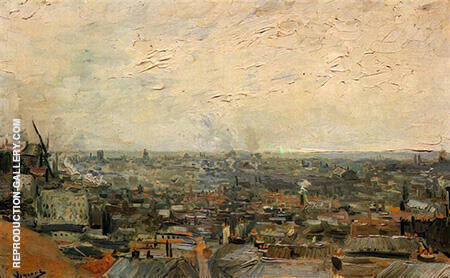 View from Montmartre 1886 By Vincent van Gogh