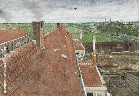 View from His Atelier in the Hague By Vincent van Gogh
